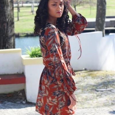 Vestido Floral C/ Atilhos