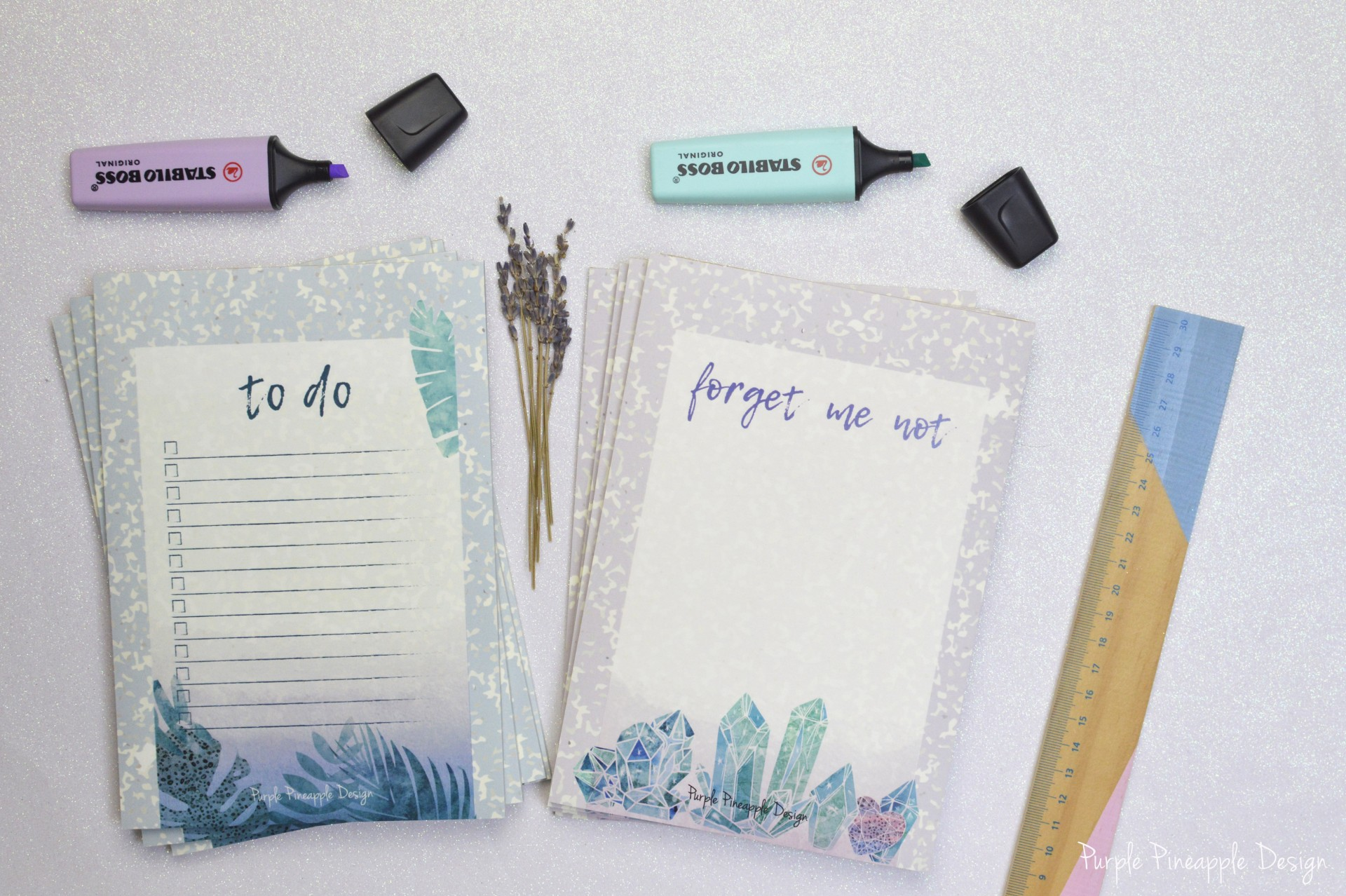 Vintage Boho - To do List & Forget me not