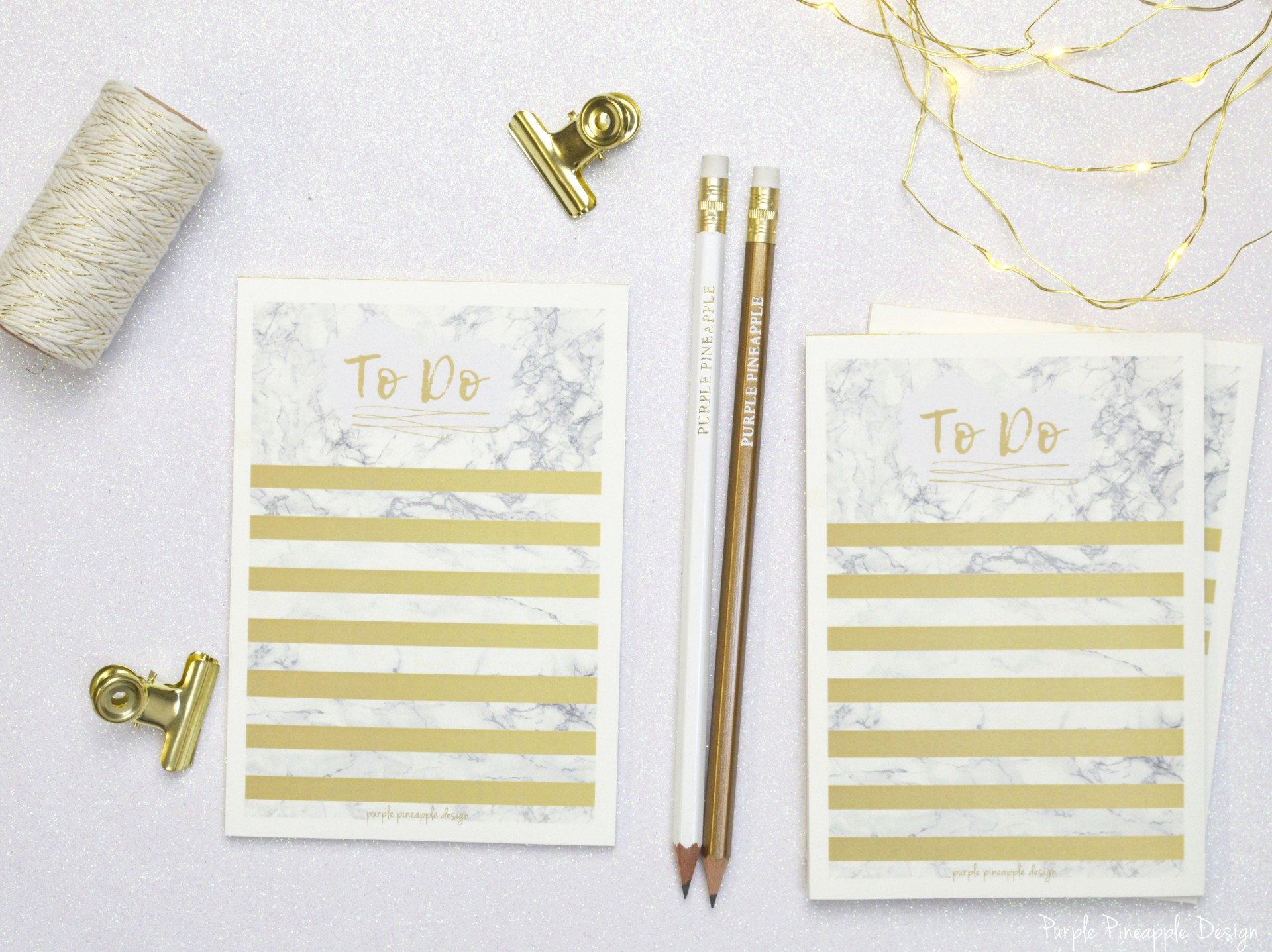To Do list marble & Gold