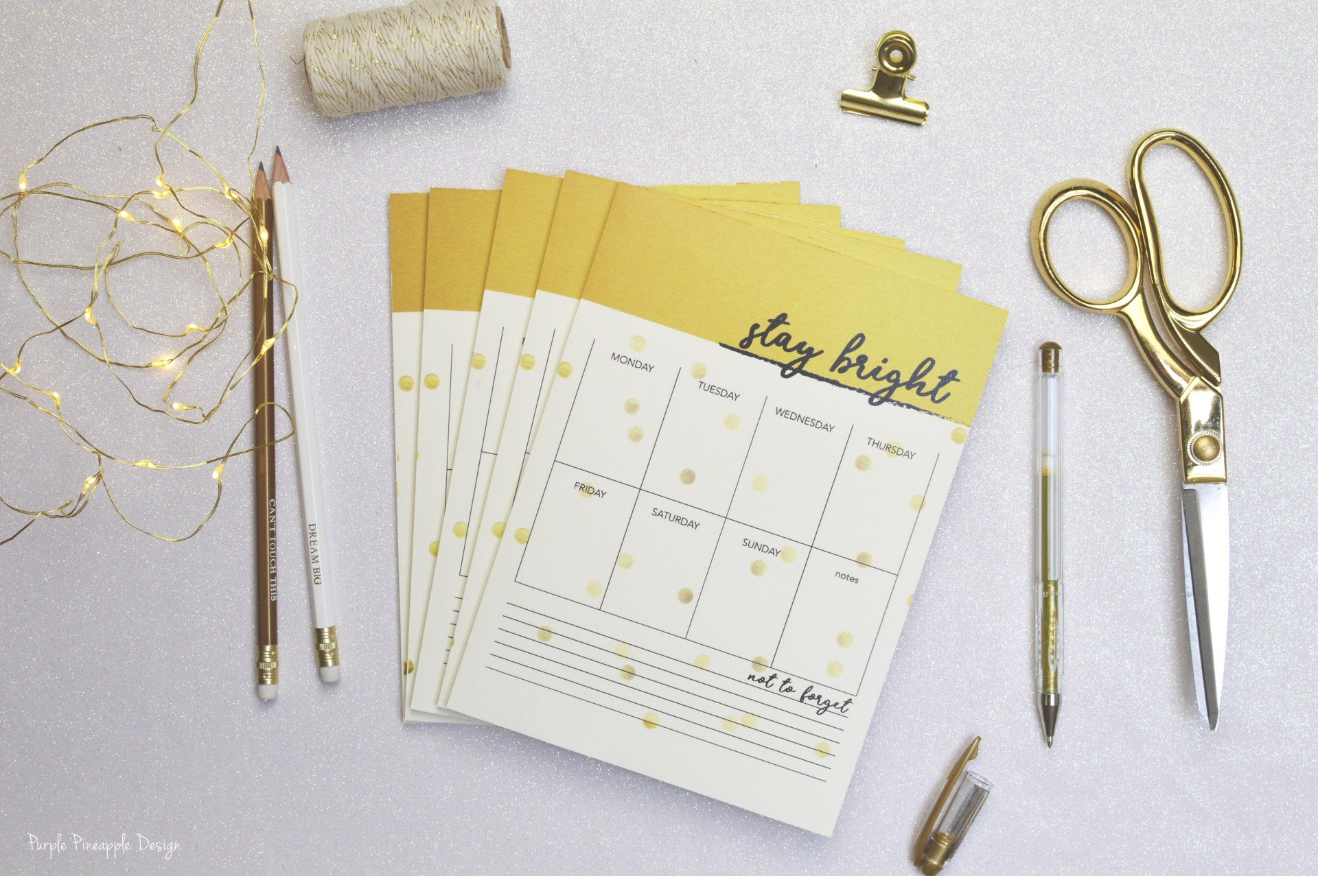 Planner Semanal Stay Bright