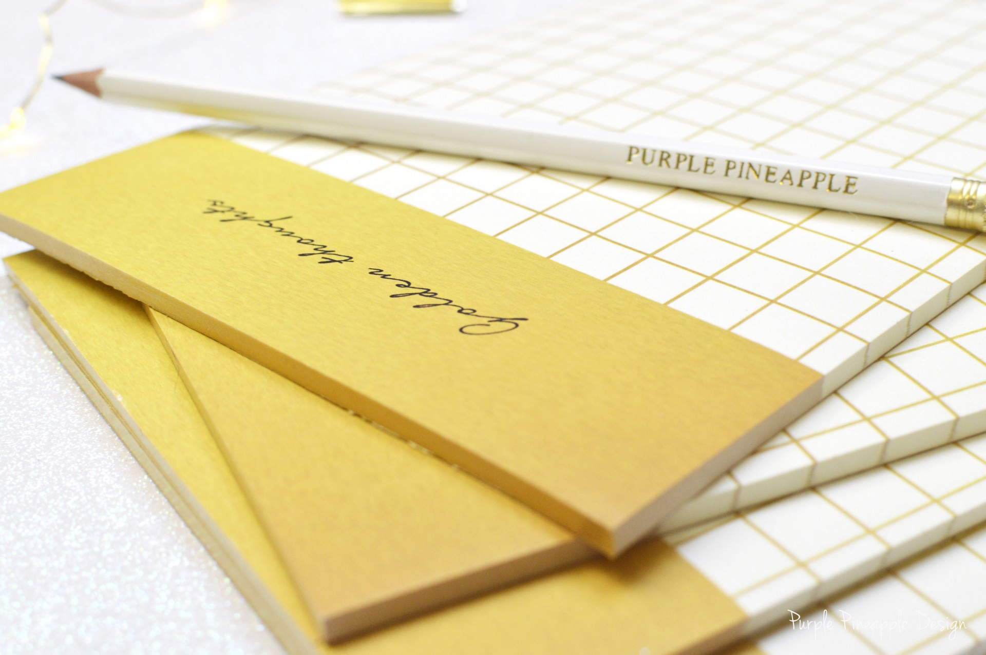 Golden thoughts - Bloco de notas