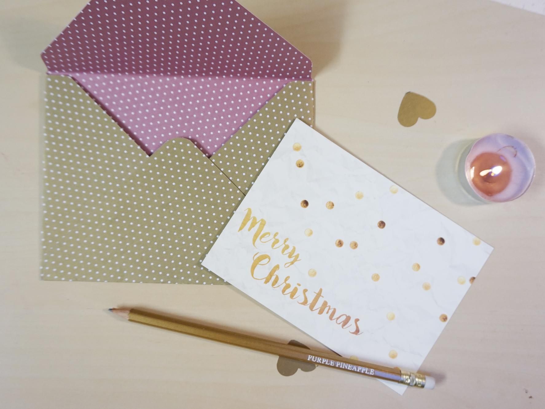 Postal Merry Christmas