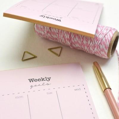 Weekly Goals