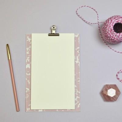 Prancheta Marble Pink