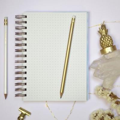 Caderno Marble Gold