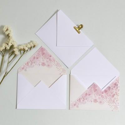 Envelope Floral rosa