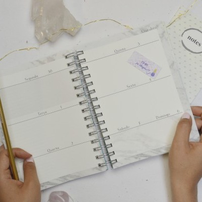 Agenda Marble Gold