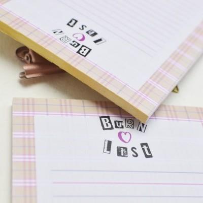 Planner Mean girls & Burn List