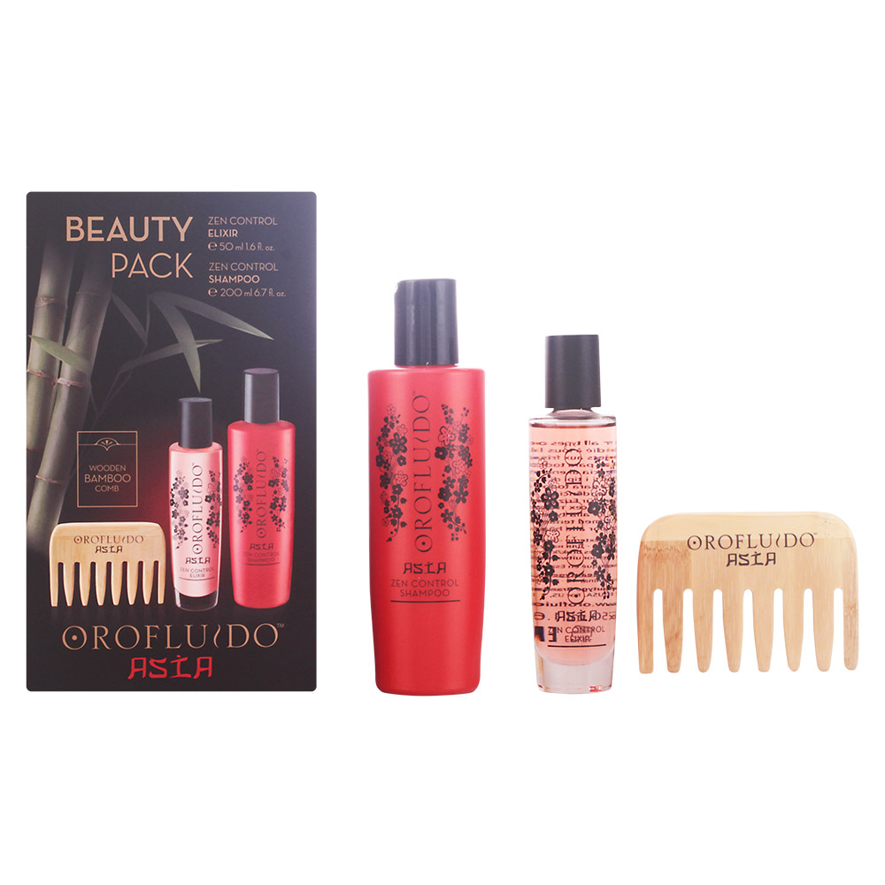 OROFLUIDO Pack ASIAN BEAUTY Elixir 50ml + Shampoo 200ml + Oferta Pente de Bambú