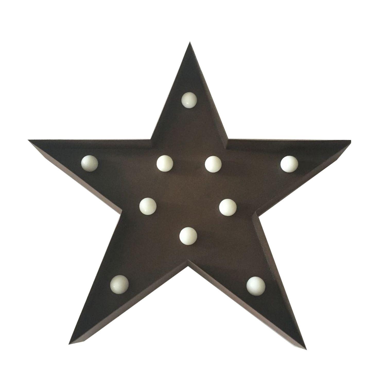 Iluminação Metálica Decorativa - Estrelas