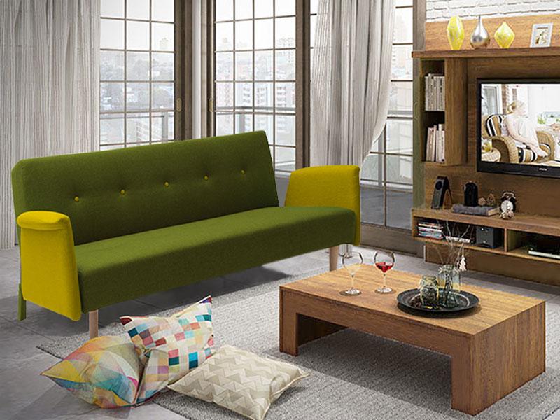 Sof e sof cama click clack com bra os 4 cores - Sofa cama verde ...