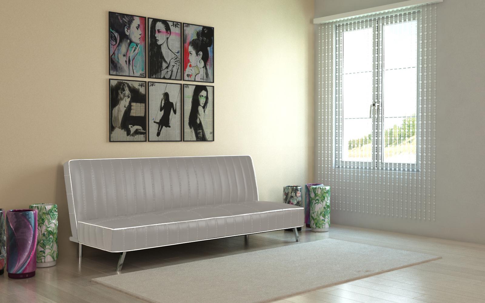 Sofá-Cama polipele - 2 cores