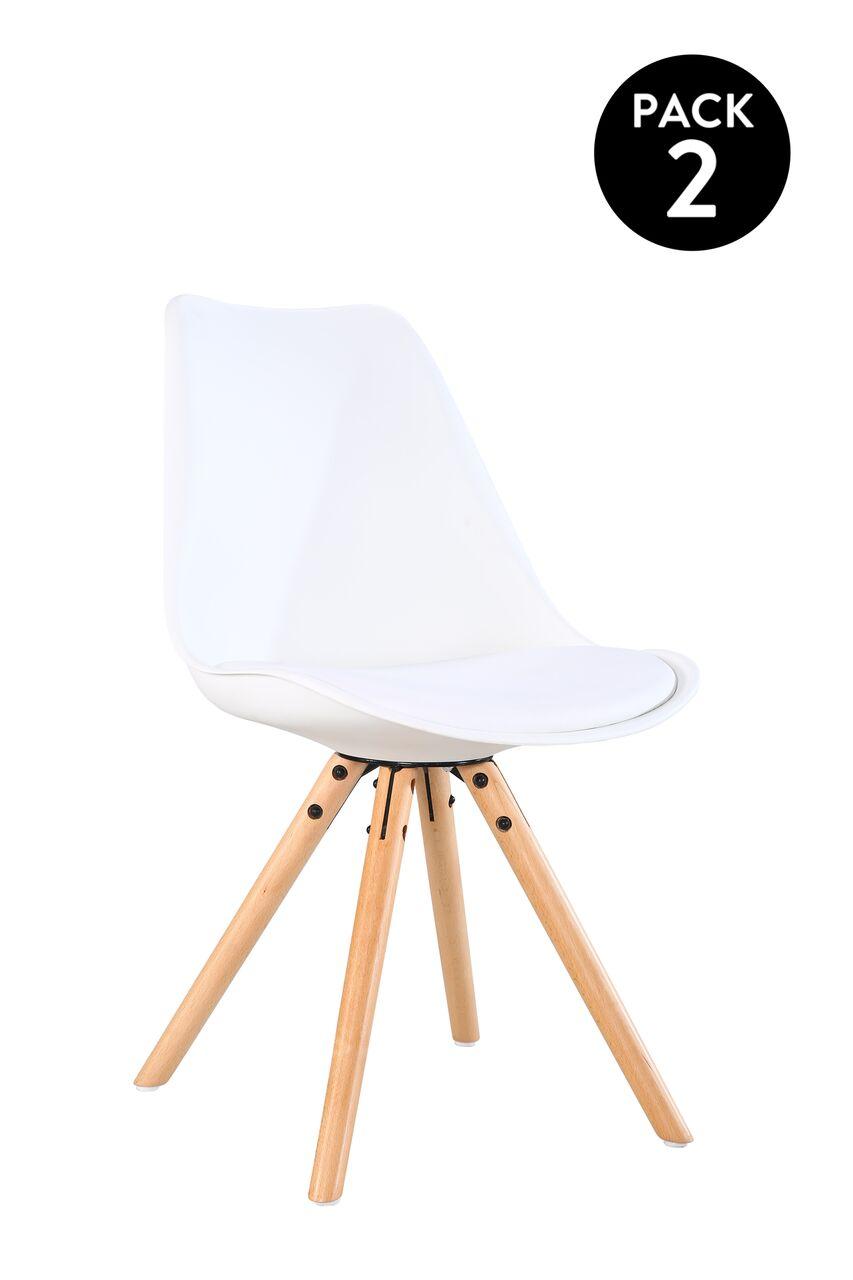 Pack de 2 ou 4 cadeiras de refeição