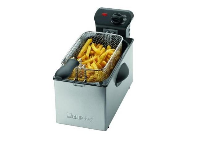 Fritadeira eléctrica inoxidável 3 Litros Clatronic