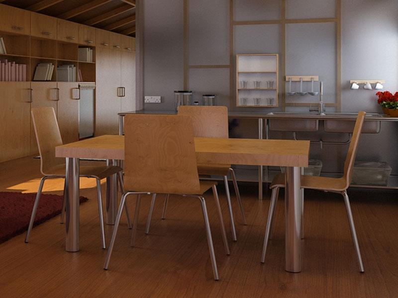 Conjunto de Mesa e 4 Cadeiras Cerejeira