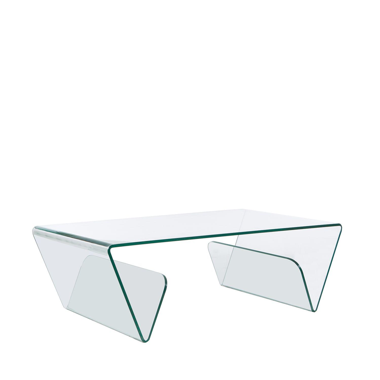 Mesa de centro Glass com porta-revistas