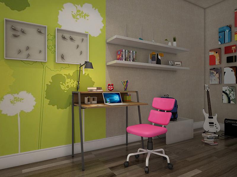 Secretária + Cadeira (rosa ou azul)