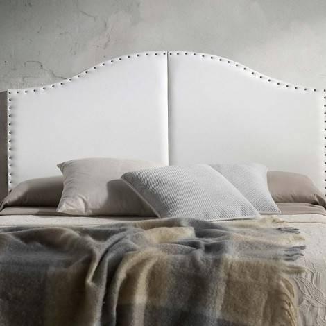 Cabeceira de Cama em polipele e taxas decorativas - 3 cores disponíveis