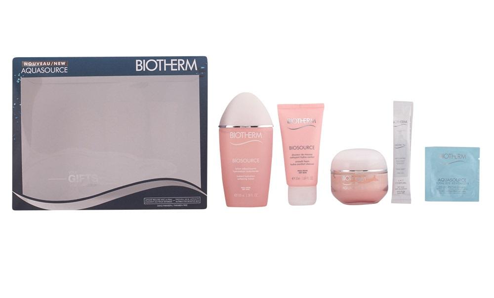 Coffret AQUASOURCE Biotherm (peles secas) - 5 produtos