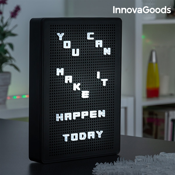 Quadro com Letras com Luz LED