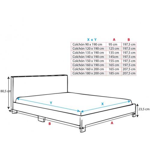Cama de casal ou solteiro lei 2 cores escolha quer e tem for Medidas camas americanas