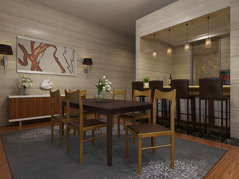 Conjunto de Mesa de refeições e 6 Cadeiras