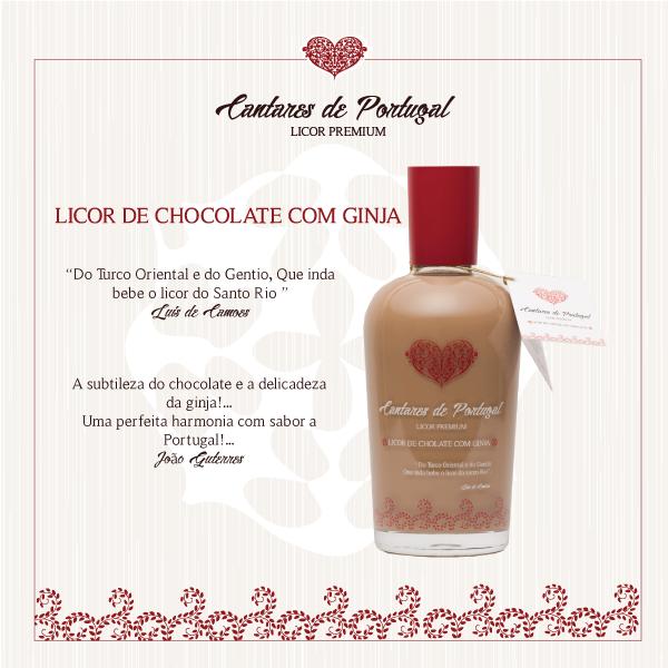 Licor de Chocolate branco e Ginja Premium