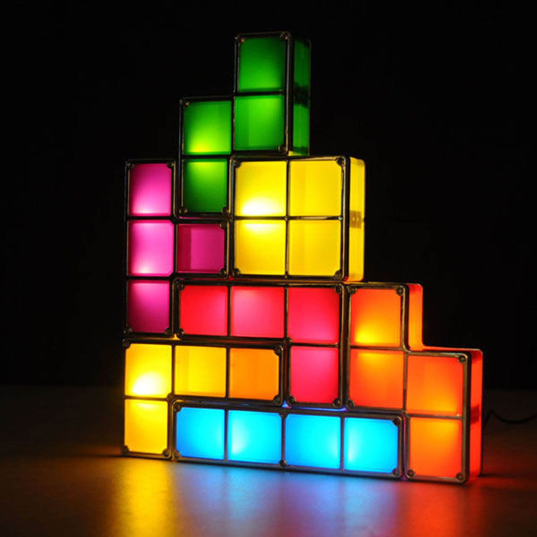 Candeeiro/Luz de presença Tetris - 7 Peças várias cores
