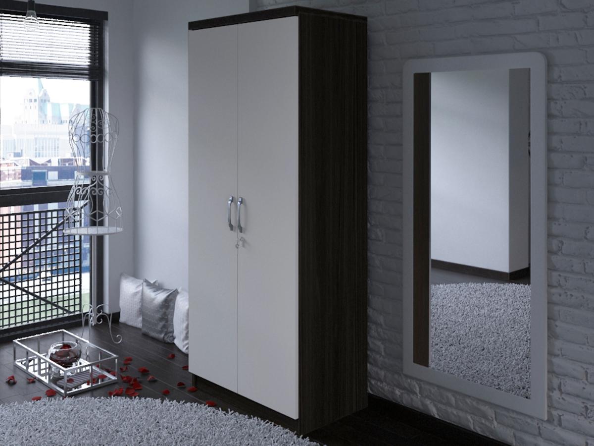 Roupeiro de 2 portas de abrir - Disponível em 2 cores