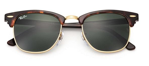 Óculos de Sol Rayban Clubmaster RB3016 W0366 Tartaruga