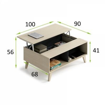 Mesa de Centro elevável - 2 cores disponíveis