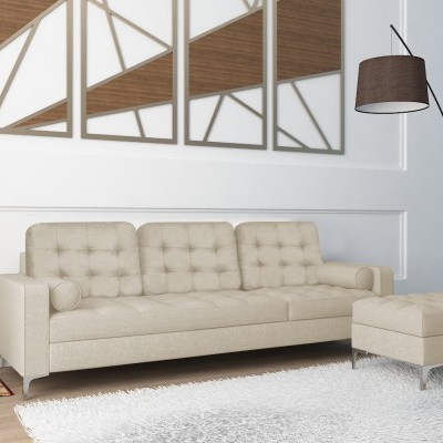Sofá Chaise Long em tecido - disponível em 3 cores