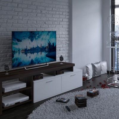 Móvel de Tv estilo nórdico com arrumação - Disponível em 2 cores