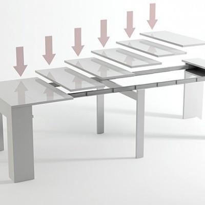 Consola e Mesa de refeição extensível até 300cm