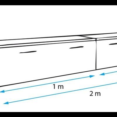 Móvel de TV Apri 2 metros com arrumação
