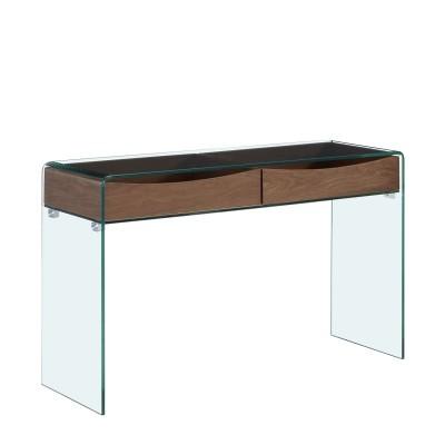 Mesa Consola em Vidro temperado 2 Gavetas