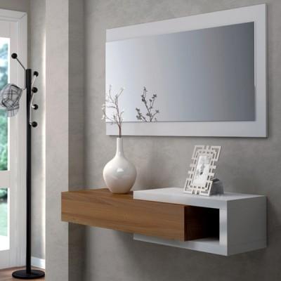 Móvel de Entrada com Espelho incluído, 2 cores à escolha