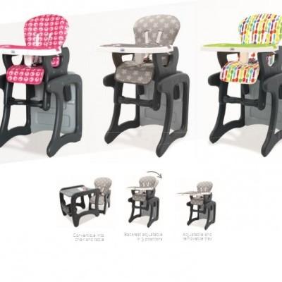 Cadeira de refeição convertível 2 em 1 asalvo