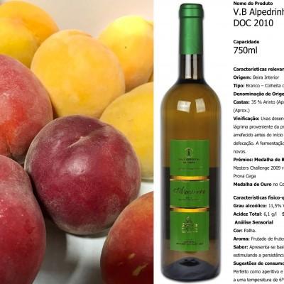Pêssegos e Vinho Branco (10 Kg + 6 un.)