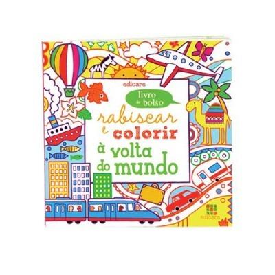 Rabiscar e colorir à volta do mundo