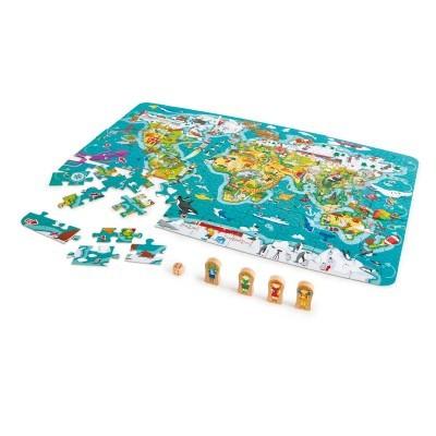 Puzzle Volta ao Mundo 2 em 1