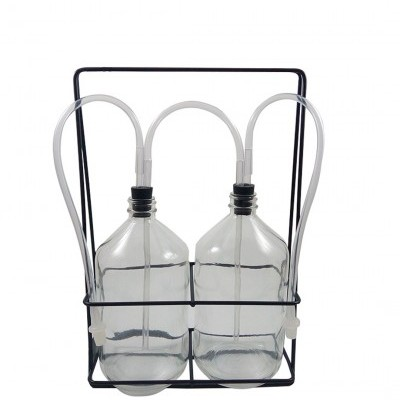 Garrafas com suporte para exercícios respiratórios de sopro e sucção