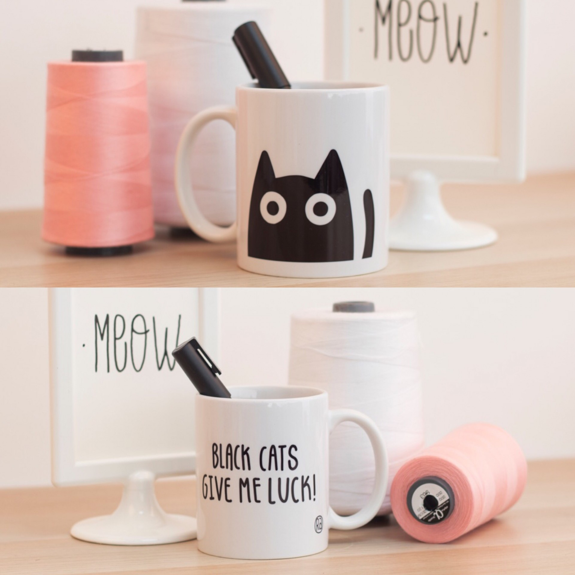 Caneca Black Cats Give Me Luck