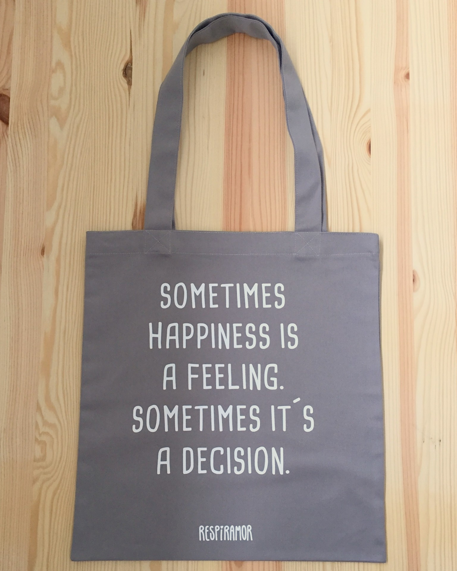 Tote Bag Cinza | Happiness