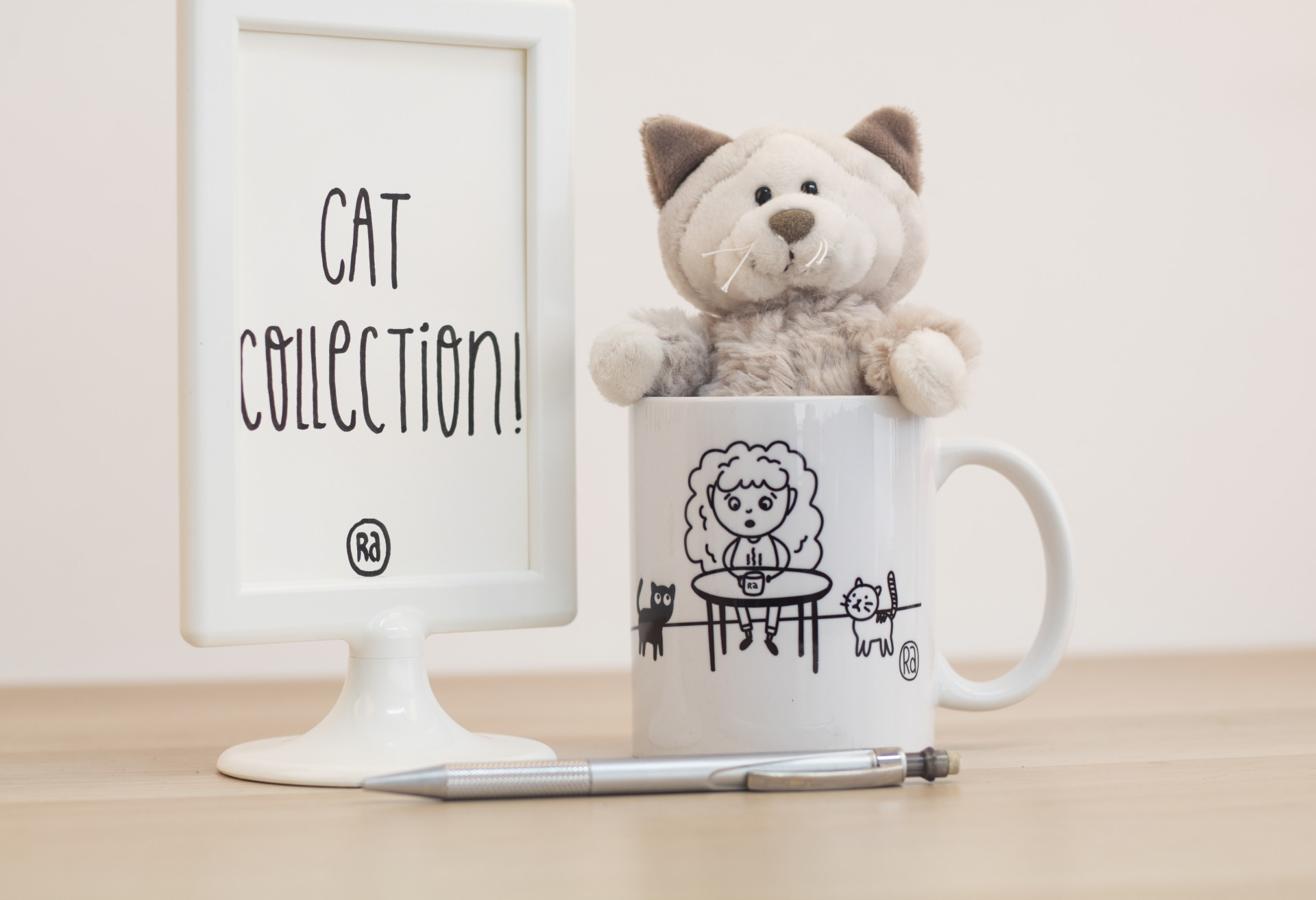 Caneca Hot Tea & Cat Time