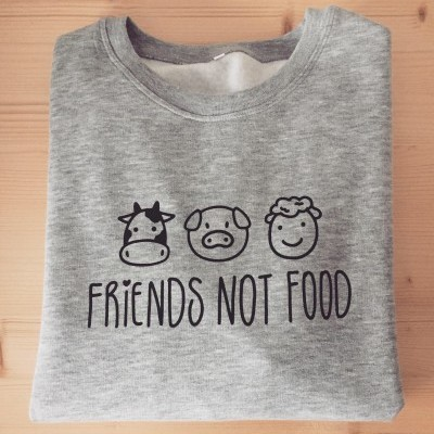 Sweatshirt Cinza Friends Not Food