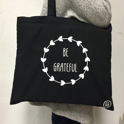 Maxi Tote Bag Preto | Be Grateful