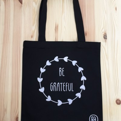 Tote Bag Preto | Be Grateful