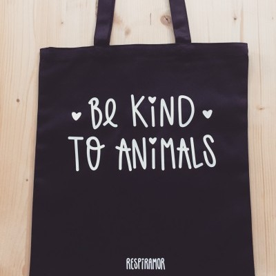 Tote Bag Preto Be Kind To Animals