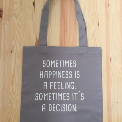 Tote Bag Cinza Happiness